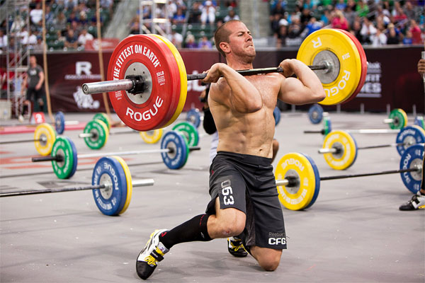 Jeremy Kinnick 2011 CrossFit Games Event 3 Clean From The Knees