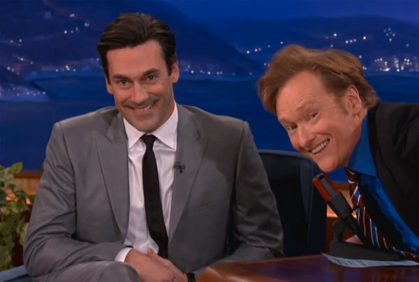 Jon Hamm Conan O'Brien Dirt Poor Stinky Rollerblader