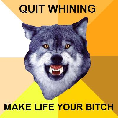 Quit Whining Make Life Your Bitch