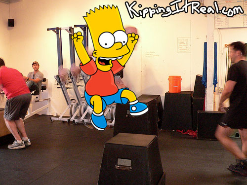 Bart Simpson Box Jumps
