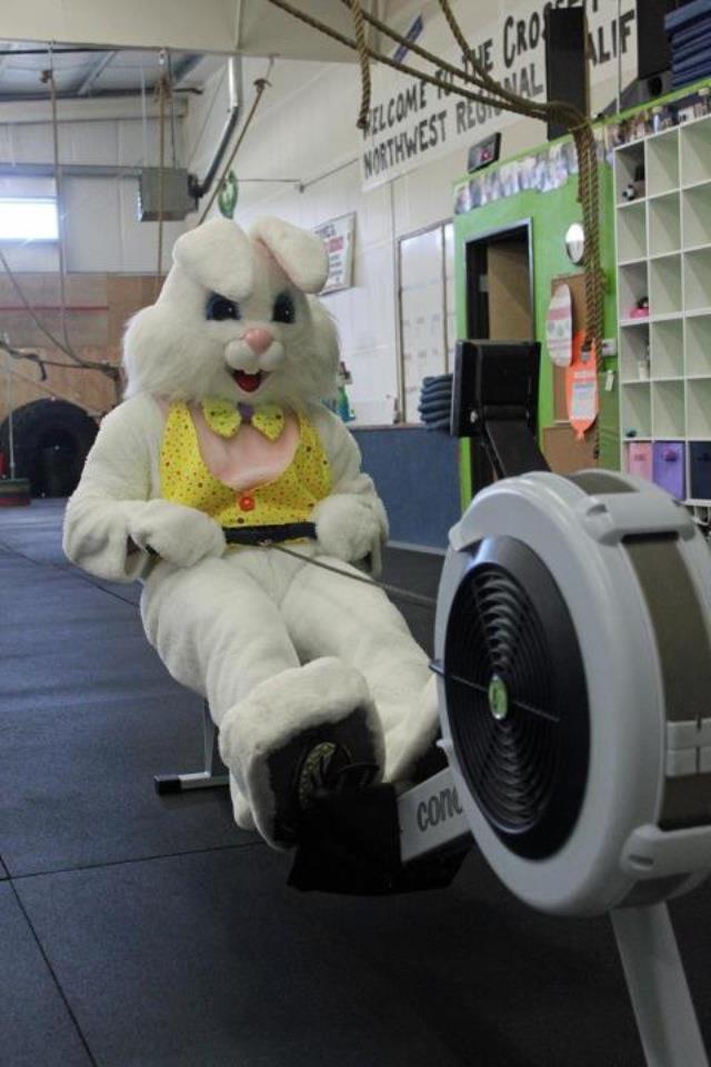 Happy Easter CrossFit Bunny Rowing