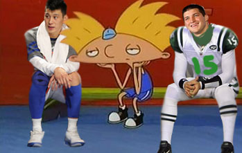 Hey Arnold Jeremy Lin Tim Tebow Jets Bench