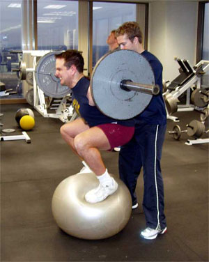 Squatting Medicine Ball