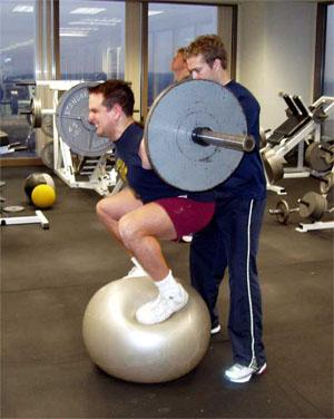 Squatting Medicine Ball