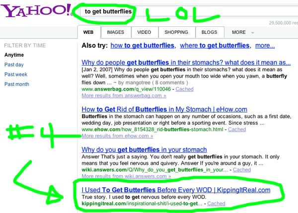 To Get Butterflies Yahoo