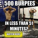500 Burpees In Under 51 Minutes???