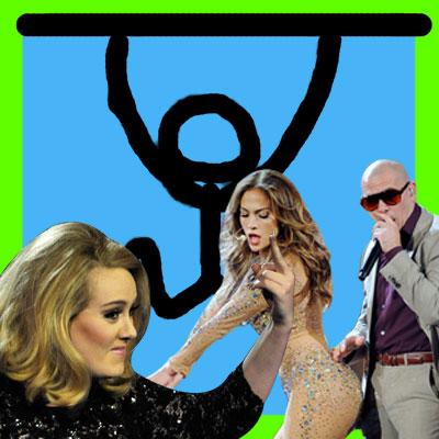 Adele Jennifer Lopez JLo Pitbull On the Floor Rolling in the Deep